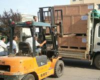 发往广州客户砼泵管内壁淬火成套设备装车中